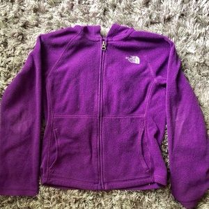 Girls North Face Hooded Fleece Size 7/8